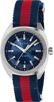 Gucci YA142304 GG2570 stainlees steel and nylon watch
