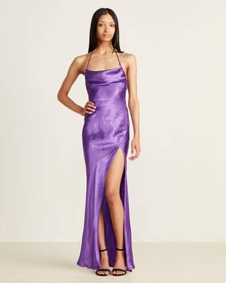 ATTICO Purple Satin Leticia Maxi Slip Dress
