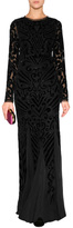 Emilio Pucci Silk Blend Embellished Gown in Black
