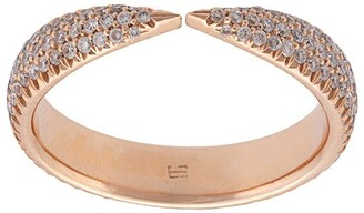 Eva Fehren 18kt rose gold Kissing Claw diamond ring