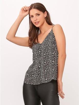 M&Co Animal print button through cami top