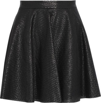 Alice + Olivia Blaise Perforated Leather Mini Skirt