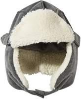 Il Gufo Grey Fleece Trapper Hat with Faux Fur Lining