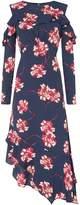 Linea Eden floral cold shoulder ruffle dress