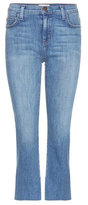 Current/Elliott The Kick Mid-rise flared cropped jeans