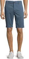 Joe's Jeans Flat-Front Trouser Shorts, Blue