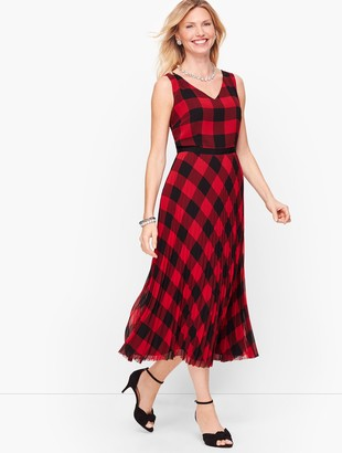 Talbots Buffalo Check Dress