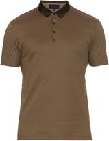 Lanvin Short-sleeved cotton polo shirt