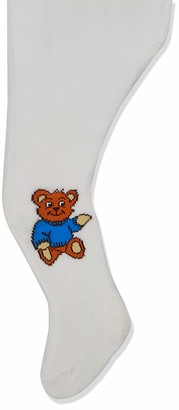 Playshoes Baby Girls' Teddybar und Unifarben mit Komfortbund Tights