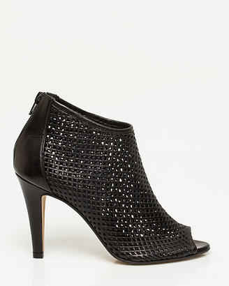 Le Château Italian-Made Leather Peep Toe Shootie