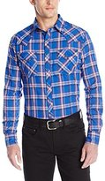 Wrangler Men's Fashion Snap Long Sleeve Woven Shirt