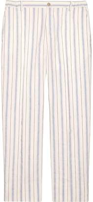 Gucci Striped silk linen pant