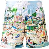 Orlebar Brown Bulldog beach print swim shorts - men - Polyester - 28