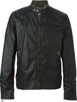 Belstaff coated zipped jacket - men - Cotton/Viscose - 46