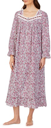 Eileen West Cotton Lawn Long Sleeve Ballet Nightgown