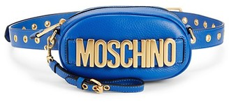 Moschino Convertible Pebbled Leather Belt Bag