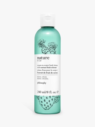 philosophy Nature in a Jar Nourishing In-Shower Oil with Hemp-Derived Cannabis Sativa Seed Oil, 240ml