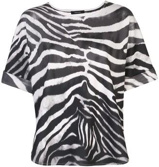 Natori Zebra Print Top