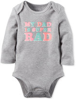 Carter's Baby Girls' My Dad Is Super Rad Long-Sleeve Bodysuit