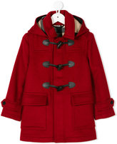 Burberry toggle button hooded coat