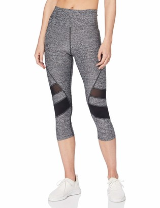 Aurique Amazon Brand Women's Capri Panelled Sports Leggings