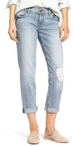 KUT from the Kloth Petite Women's Catherine Distressed Boyfriend Jeans