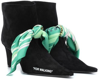 "Off-White ""For Walking"" suede ankle boots"