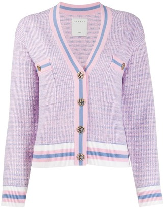 Sandro Paris cropped tweed effect cardigan