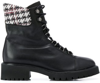 Högl houndstooth printed hiking boots