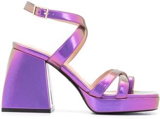 Nodaleto metallic Bulla Siler 85mm sandals