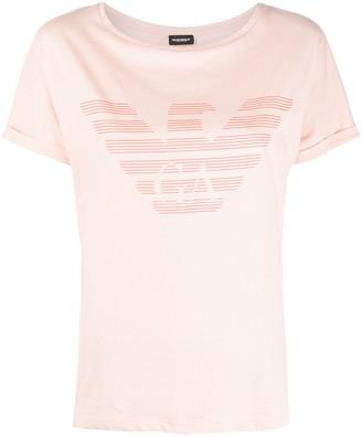 Emporio Armani eagle logo print T-shirt