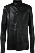 Haider Ackermann leather shirt jacket