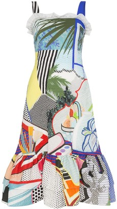 Mary Katrantzou Kara pop art sleeveless dress