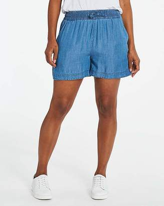 Capsule Blue Soft Tencel Denim Pull-On Shorts