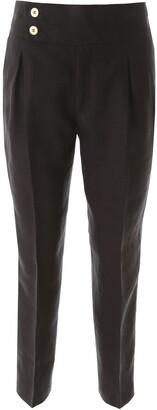 L'Autre Chose High Waist Cropped Pants
