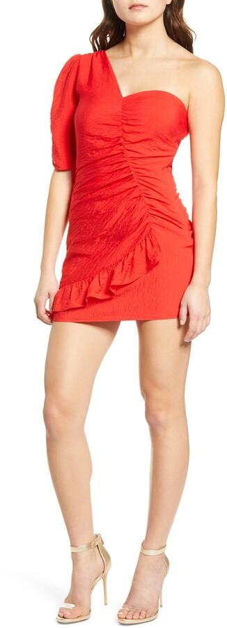 Leith One-Shoulder Minidress