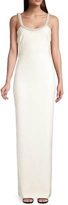 LIKELY Enzo Embellished-Trim Column Gown