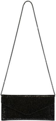 Judith Leiber Envelope Black Crystal Clutch