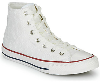 Converse CHUCK TAYLOR ALL STAR LITTLE MISS CHUCK girls's Shoes (High-top Trainers) in White