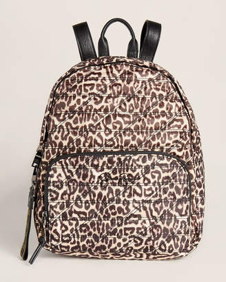 Jessica Simpson Kaia Leopard Effect Quilted Backpack