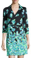 Julie Brown Milo Printed Wrap Dress, Black/Multi