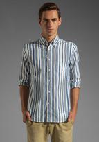 Gant Dreamy Oxford Awning Stripe HOBD Shirt in Blue/White Stripe