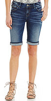 Silver Jeans Co. Suki Bermuda Woven Stretch Cuffed Denim Shorts
