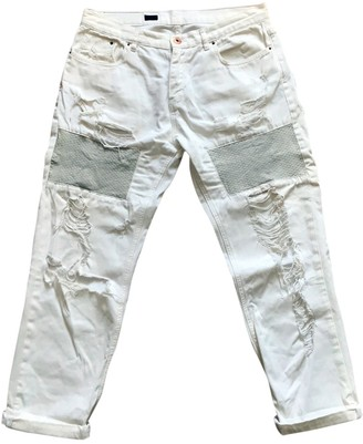 Avelon White Cotton Jeans for Women