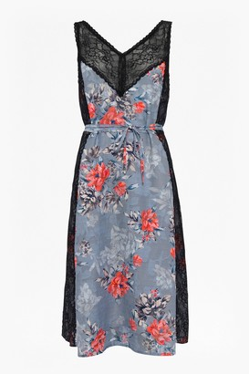 French Connection Cateline Devore Lace Slip Dress