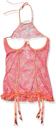 Coquette Women's Coral and Orange Chemise Large