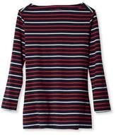 L.L. Bean Women's Signature Cotton/Modal Boatneck Top, Stripe