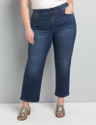 Lane Bryant Curvy Fit High-Rise Girlfriend Straight Jean - Dark Wash