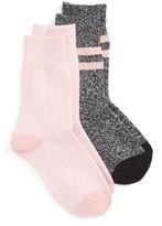 Tucker + Tate Girl's Assorted 2-Pack Crew Socks