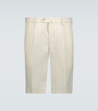 Loro Piana Bermuda pinstriped linen shorts